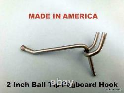 Metal Pegboard Hooks For Retail / Storage / Garage / Store Display, Made In USA