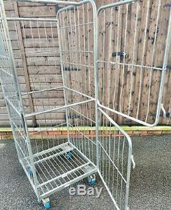 Metal Roller Cage Trolley Mobile Garden Log Store Workshop Garage Parcel Storage