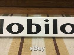 Mobil Oil Porcelain Sign Door Push Garage Gas Pump Country Store Soda Can Car