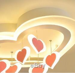 Modern Girl's LED Living Room Ceiling Lamp Romantic Love Fixture Store Lighting