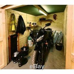 Motorbike Store Wooden Garage Outdoor Motorcycle Storage Shed Bike Workshop Door