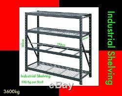 NEW Warehouse Racking Shelving SHELF 900kg per Shelf STORE GARAGE SHOP ORGANISE