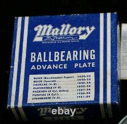 NOS MALLORY Advance Plate BUICK OLDS CAD PONT Hot Rod distributor ignition gm v8