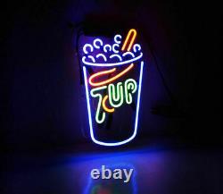 New 7up Soda Soft Drink Cafe Neon Sign 17x14 Beer Light Lamp Bar Garage Store