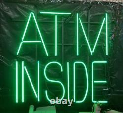 New ATM Inside Shop Neon Lamp Sign 20x16 Light Glass Garage Bar Pub Store