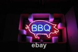 New Barbecue BBQ Store Neon Lamp Sign 20x16 Light Real Glass Garage Bar Pub A