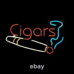 New Cigars Smoking Neon Lamp Sign 20x16 Light Glass Garage Bar Pub Store B