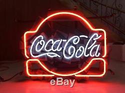 New Coca Cola Drink Bar Neon Sign 17x14 Beer Light Glass Store Garage Display