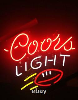 New Coors Light Rugby Lamps Neon Sign 17x14 Beer Glass Store Garage Display