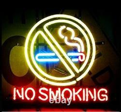 New No Smoking Store Neon Lamp Sign 20x16 Light Glass Garage Bar Pub Shop
