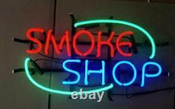 New Smoke Shop Neon Lamp Sign 20x16 Light Glass Garage Bar Pub Store Decor A