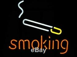 New Smoking Cigarette Cigar Neon Sign 17x14 Light Glass Store Garage Display