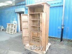 Oakwood Stunning Oak Kitchen Furniture 2 Door Larder Food Store 112366/ex