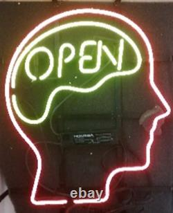 Open Mind Brain Store Neon Lamp Sign 14x10 Bar Lighting Garage Cave Artwork A