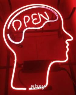 Open Mind Brain Store Neon Lamp Sign 14x10 Bar Lighting Garage Decor Artwork D