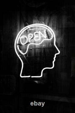 Open Mind Brain Store Neon Lamp Sign 14x10 Bar Lighting Garage Glass Artwork B