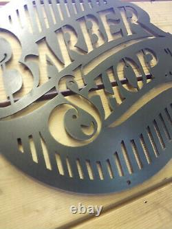 Premium BARBER SHOP Metal Sign Hand Finished Man Cave Wall Art store front 60s