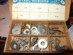 Rare 8 drawer General Store Display -Junior Garage Nuts, Bolt, washer & Hardwares