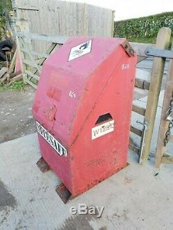 Red Site Store safe tool box van truck lorry vault garage, needs locks £220+vat