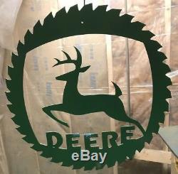 SIGN John Deere Tractor Auto Shop Farm Tools Equipment Store Garage Unpainted