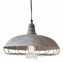 SUPPLY Store Pendant Hang Light in Weathered Zinc