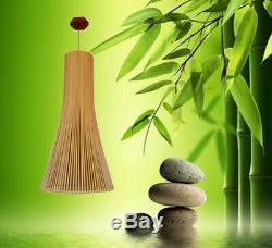 Salon Clothing Store Chandelier Lighting Bamboo LED Lamp Coffee Hanging Lamps