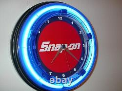 Snap On Tools Wrench Mechanic Garage Store Man Cave Neon Clock Sign