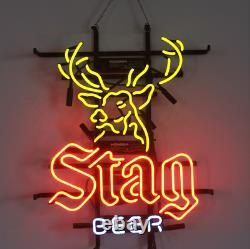 Stag Beer Neon Sign Artwork Store Light Pub Club Display Garage 19