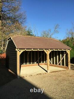 Two Bay Oak Front Frame for Garage/ Carport/ Log store Available Now