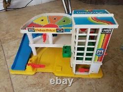 VTG Fisher Price Little People SESAME STREET Hooper Store AIRPORT VILLAGE GARAGE