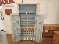 Vancouver Expressions Oak & Acacia Wood 2 Door Larder Food Store French Grey