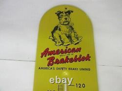 Vintage Advertising American Brakeblok Thermometer Garage Store Auto A-494