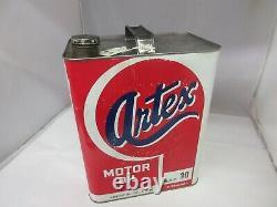 Vintage Advertising Artex Motor Oil 2 Gallon Can Tin Garage Store 973-y