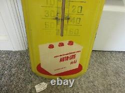 Vintage Advertising Auto-lite Thermometer Garage Store Auto Petroliana 154-z
