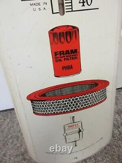 Vintage Advertising Fram Filters Thermometer Garage Store Auto Petroliana A-154