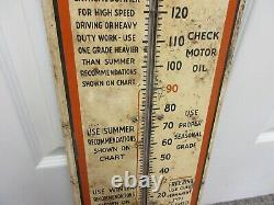 Vintage Advertising Gulf Oil Gas Thermometer Garage Store Auto Petroliana A-481