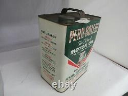 Vintage Advertising Penn-rolene Motor Oil 2 Gallon Can Tin Garage Store 633-q