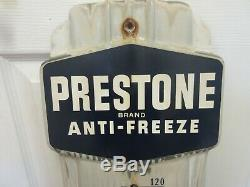 Vintage Advertising Prestone Porcelain Thermometer Store Garage Station 954-q