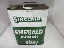 Vintage Advertising Sinclair Motor Oil 2 Gallon Can Tin Garage Store 938-z