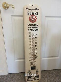 Vintage Advertsing Bowes Seal Fast Tin Store Shop Garage Thermometer A-661