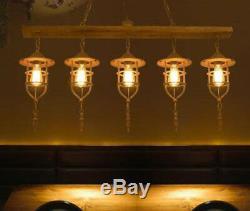 Vintage Iron Restaurant Light Cafe Chandelier Bar Clothing Store Pendant Fixture