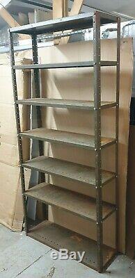 Vintage Metal Racking Shelves Storage Garage Unit Industrial Workshop Store Room