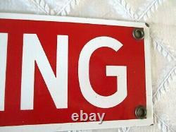 Vintage No Smoking Porcelain Sign- 20- Store- Garage Display- Org