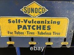 Vintage Original Sunoco Tire Store Garage Display Vulcanize Patch Gas & Oil Rare