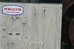 Vintage Proto Tool Board Store Display Man Cave Garage Decor Wall Hanging Tools