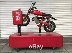 Vintage motocross bike equipment American garage store display Showa Retro rare