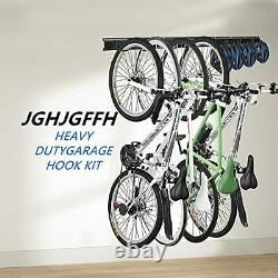 Wall Bike Rack Hanger Storage Garage Organizer, 8 Hooks and 3 Store 4 bicycles