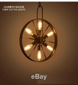 Wheel LED Sing Hall Pendant Fixtures Furniture Store Chandelier Lighting Lamp