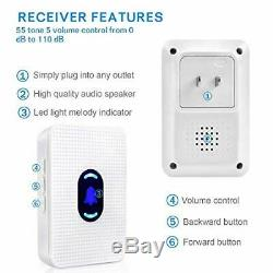 Wireless Door Open Entrance Chime Entry Alert Home Business Garage Retail Store