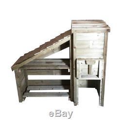 Wooden Garden Coal Bunker & Log Store/ Coal Bunker & Log Store